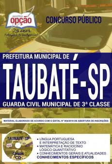 Apostila Guarda Municipal de Taubaté 2018 - GCM 3ª Classe