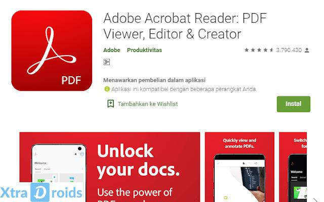Aplikasi Adobe Acrobat Reader