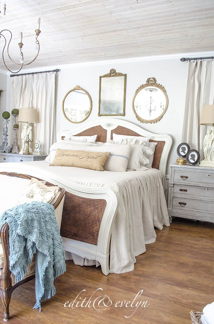 Beautiful vintage French chateau style bedroom.