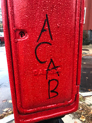 """ACAB"" written on Fire box"