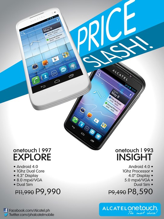 Alcatel ONE TOUCH 997D Explore and 993D Insight