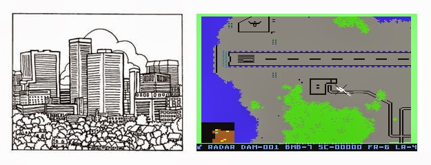 Raid on Bungeling Bay de Will Wright (Broderbund, 1984), creador del Sim City.