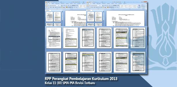 RPP Perangkat Pembelajaran Kelas 11 (XI) SMA-MA Kurikulum 2013 Mata Pelajaran Lengkap Revisi Terbaru Tahun 2019-2020