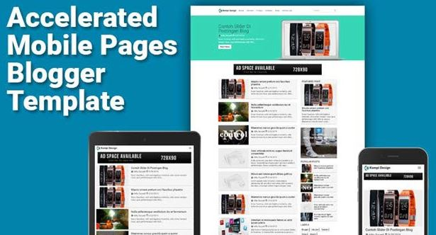 kompi amp blogger template