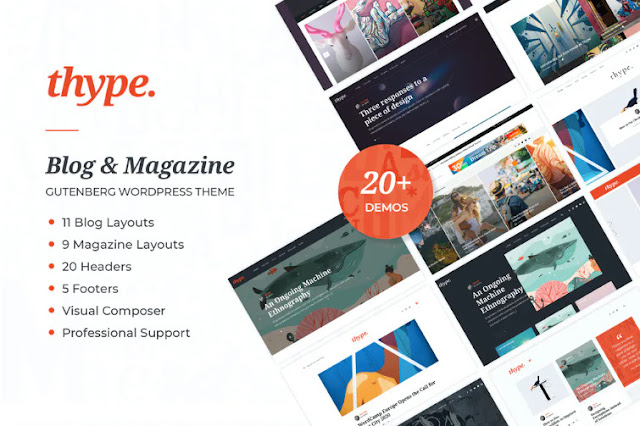 Free Download Thype | Personal Blog and Travel WordPress Theme