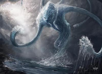 Naga d'acqua (Water Elemental by Jackal0fTrades)