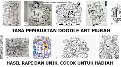 jasa pembuatan doodle art, jasa pembuatan doodle art murah