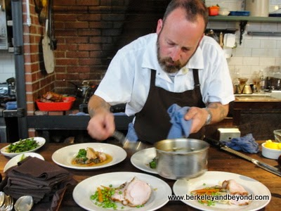 chef plating at Homestead in Oakland, CA