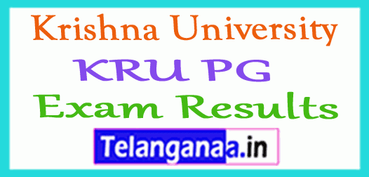 Krishna University KRU PG Exam Results
