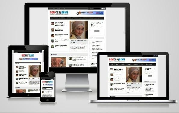New Easy News - Template Responsive yang Cocok Untuk Blog Berita atau Majalah