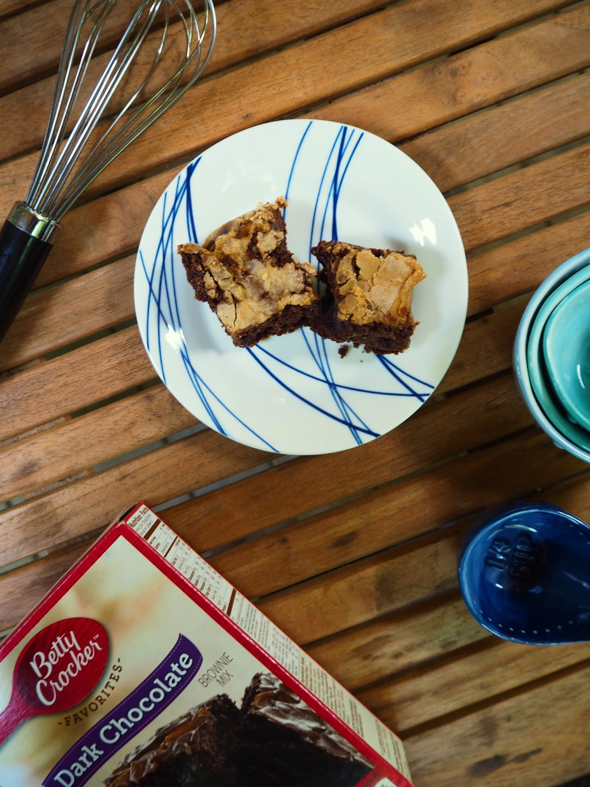 Espresso brownies upgraded recipe from box brownie mix