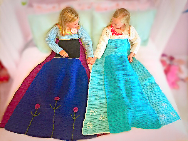 Elsa Crochet Princess Dress Blanket Pattern!