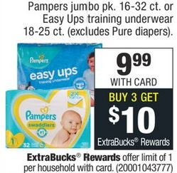 Pampers Only $2.99 this week!