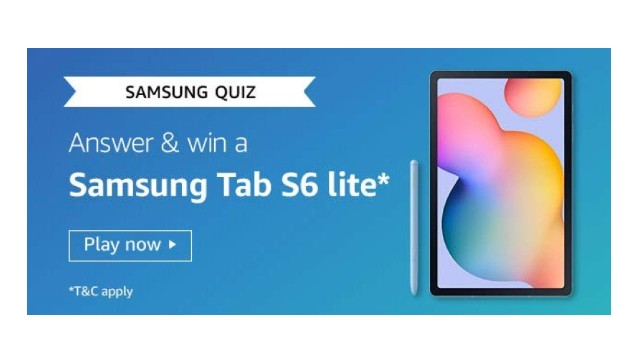 Amazon Samsung Tab S6 Lite Quiz Answers - Win Samsung Tab S6 Lite