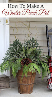 How to make a winter porch pot.