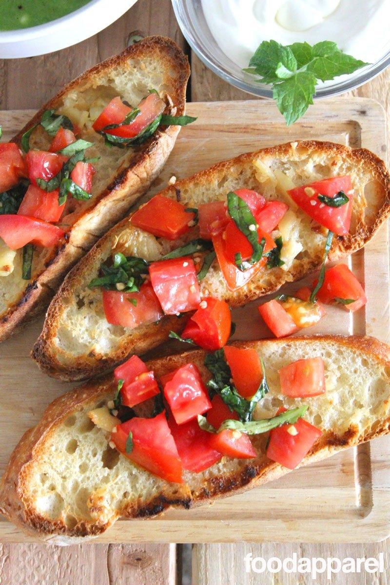 Tomato & Basil Bruschetta Recipe #tomato #basil #recipes #healthyfood #family