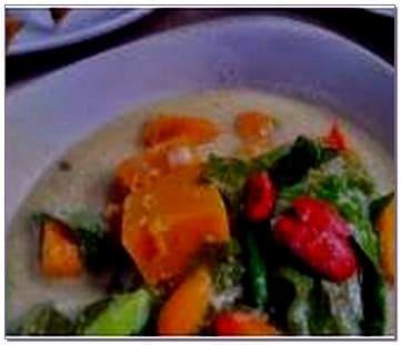 Sayur ganemo khas Manado