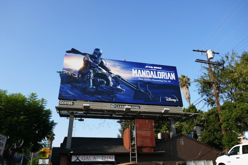 Star Wars Mandalorian season 2 billboard