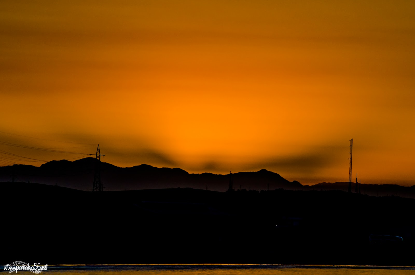 Foto desde Rota de la Sierra de Cádiz al amanecer