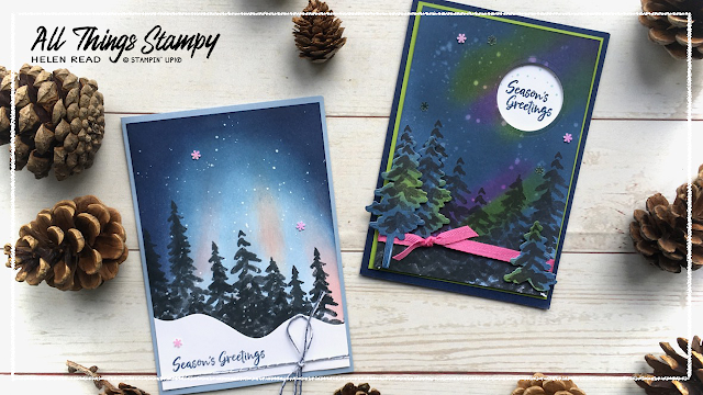 In The Pines Northern Lights Stampin Up