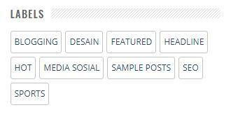 Kode Widget Daftar Label untuk Sidebar atau Footer Blog