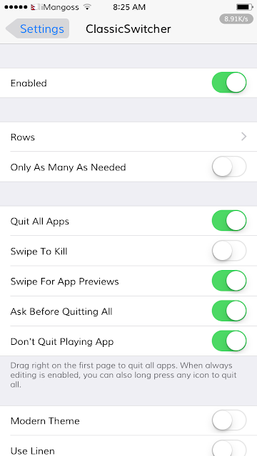ClassicSwitcher 3 is a popular jailbreak tweak that brings a classic iOS 6 App Switcher to latest iOS versions.