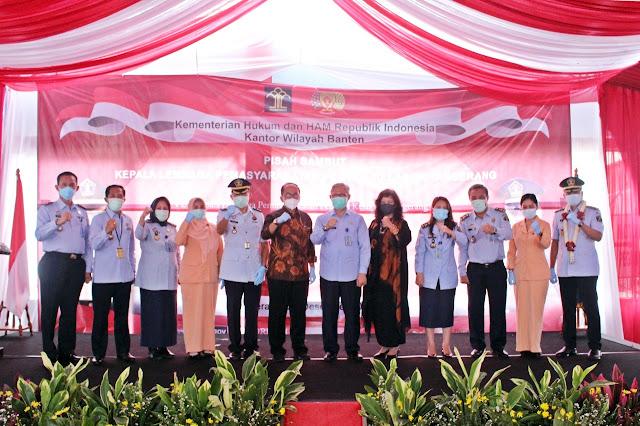 Lapas Pemuda Tangerang Gelar Serah Terima Jabatan dari Plt. Kalapas Achmat Muchlisin Kepada Kalapas Kadek Anton