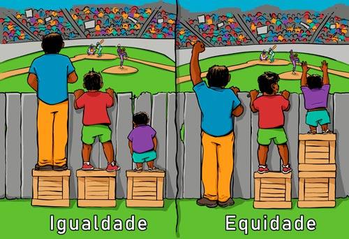 diferença entre igualdade e equidade