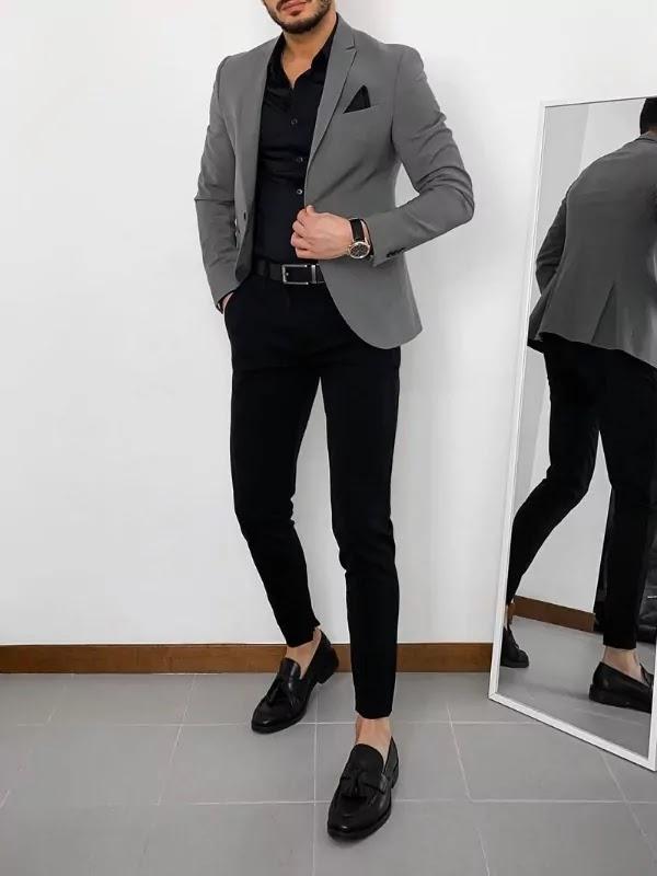 Blazer with trousers