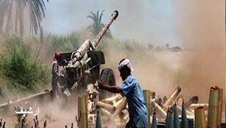 مدفعية القوات اليمنية تستهدف تجمعات لمرتزقة السعودية في محافظة الجوف
