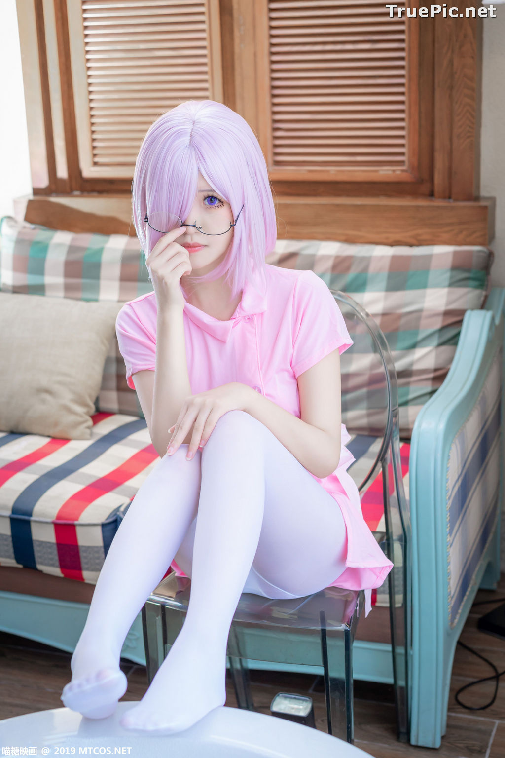 Image [MTCos] 喵糖映画 Vol.033 – Chinese Cute Model - Pink Nurse Cosplay - TruePic.net - Picture-6