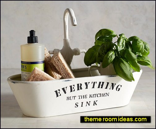 Everything But the Kitchen Sink Tray industrial farmhouse decorations farmhouse decor