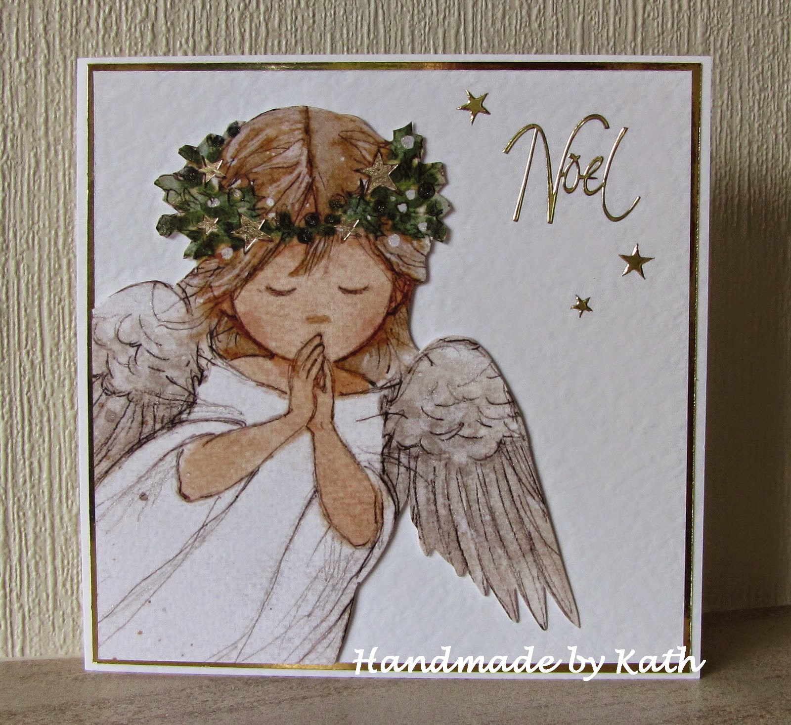 the current merry monday challenge is angels or cherubs ive upcycled this cute angel from one of the christmas cards i received last year - Current Christmas Cards