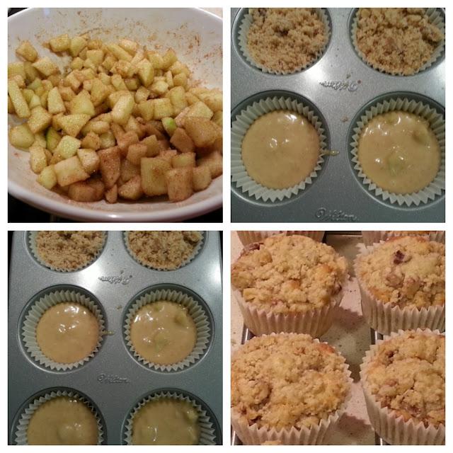 cupcake crumble de manzana
