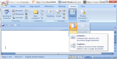 microsoft word-two document compare