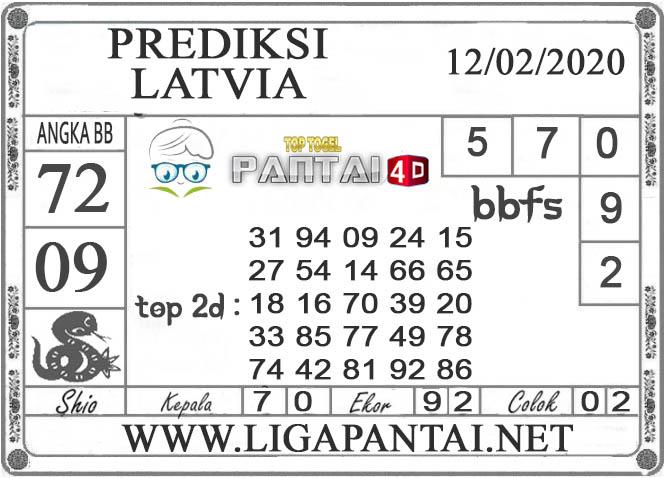 PREDIKSI TOGEL LATVIA PANTAI4D 12 FEBRUARI 2020