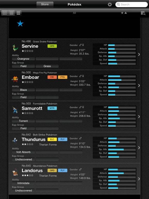 Pokédex for iOS - Comparação de Pokémon