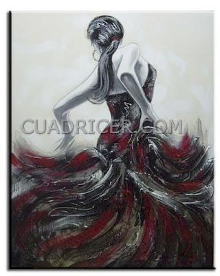 http://www.cuadricer.com/cuadros-pintados-a-mano-por-temas/cuadros-figuras/cuadro-moderno-flamenca-1014.html