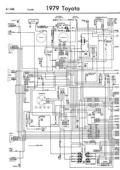 repair-manuals: Toyota Corolla 1979 Wiring Diagrams