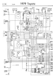 repairmanuals: Toyota Corolla 1979 Wiring Diagrams