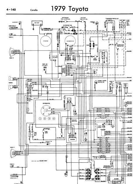 Free Download Wiring Diagrams Repair Manuals Toyota Corolla 1979 Wiring Diagrams