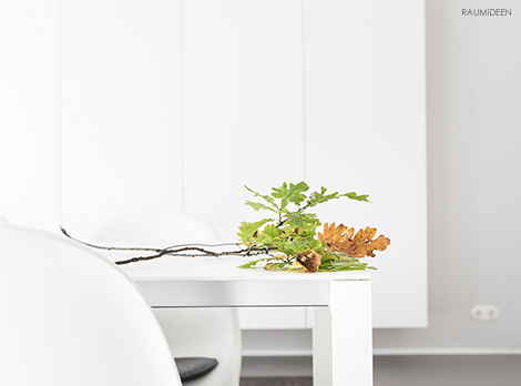 Einfache Herbstdeko mit Zweigen