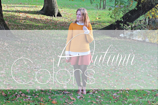 josie´s little wonderland, blog, fashion, autumn, outfit, knitwear, skirt, fallcolors, fall, orange, red