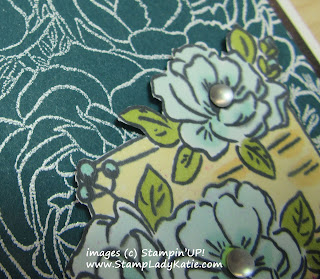 Stampin'UP!'s Breathtaking Bouquet and Happy Birthday to You stamp sets. with Frosted Epoxy Droplets flower centers.