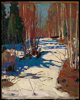 Path Behind Mowat Lodge Canvas Print by Tom Thomson