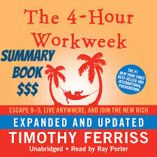 The 4-Hour Workweek By Timothy Ferriss  ►Summary Book ► Change Your Financial Life.Defined fear. Automate income. Be effective, not efficient. Outsourcing. Relative income. Mini retirements and geo arbitrage.