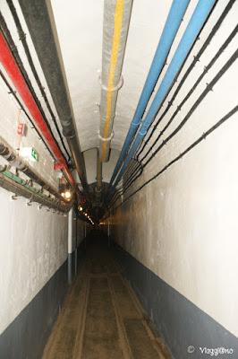 Una delle tante gallerie che collegano gli elementi del Fort de Schoenenbourg