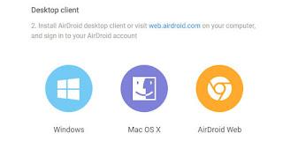 Download AirDroid desktop client