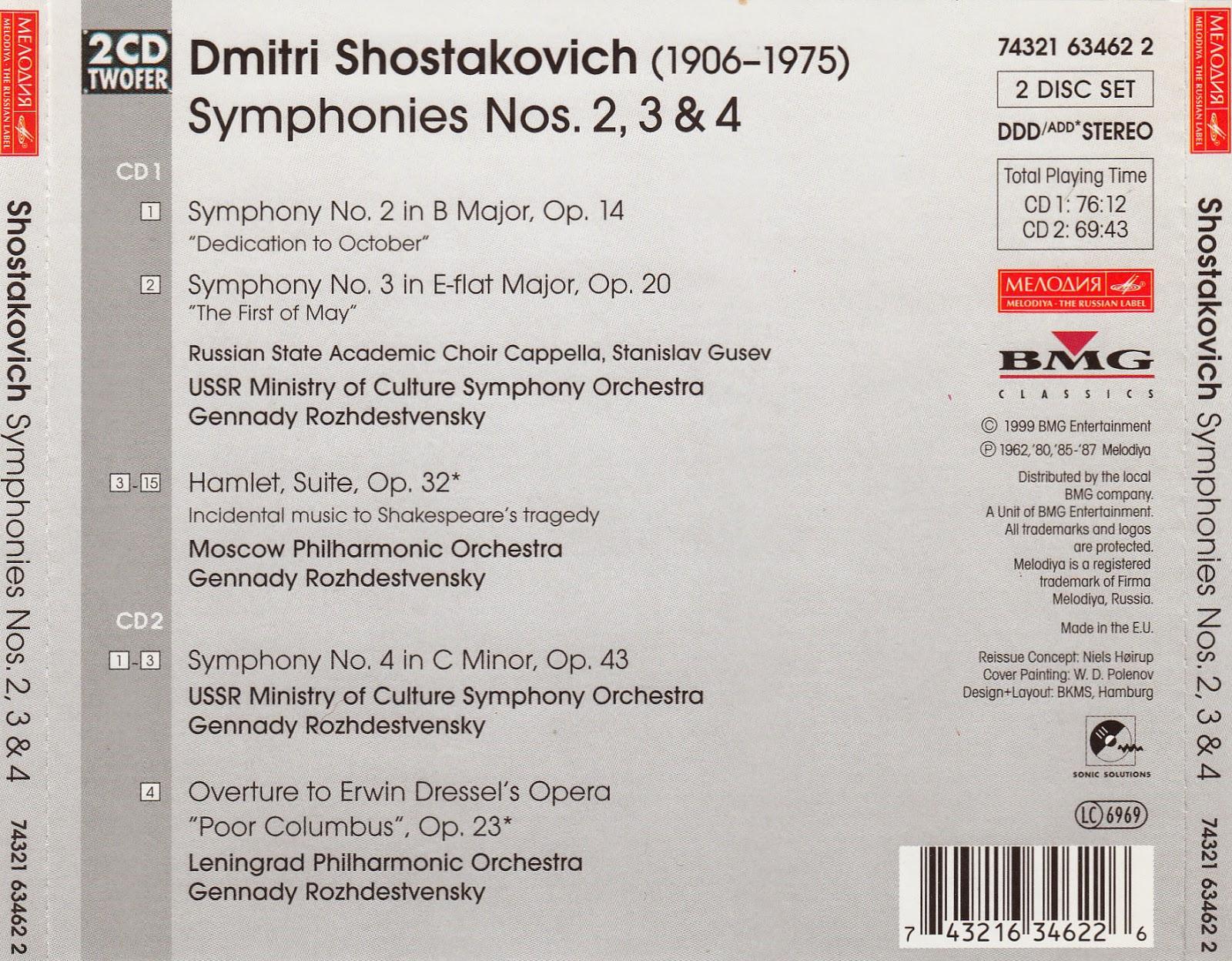 Diabolus In Musica: Shostakovich - Symphonies Nos 2, 3 & 4