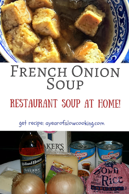 How to make homemade French Onion Soup in the crockpot slow cooker. I love making restaurant recipes at home and this one is perfect and so easy to do!